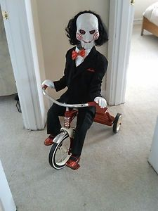 clown puppet halloween prop life sized haunted doll creepy scary horror saw - Scary Props