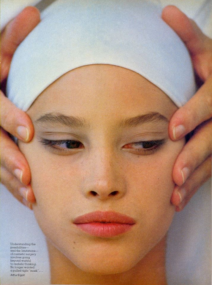 """Christy Turlington in """"Signals of Change The Cosmetic Message"""" by Arthur Elgort…"""