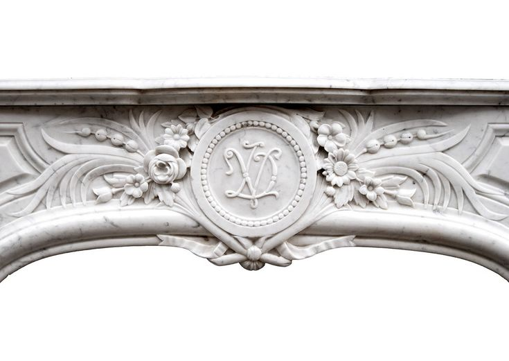 French, Louis XIV Style Carrara Marble Fireplace Mantel For Sale at 1stdibs