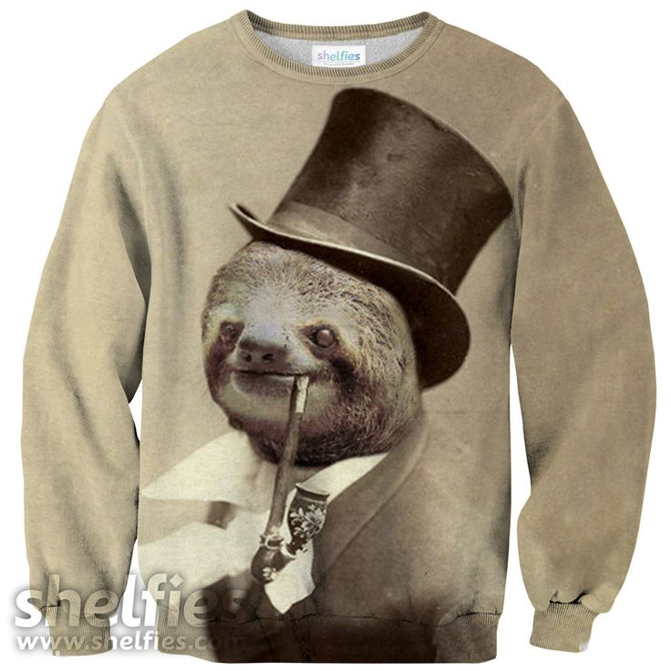 Old Money Flows Sloth Sweater – Shelfies - Outrageous Sweaters