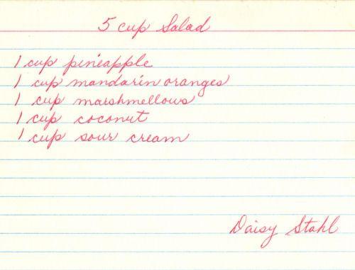 recipe: five cup salad marshmallows [39]