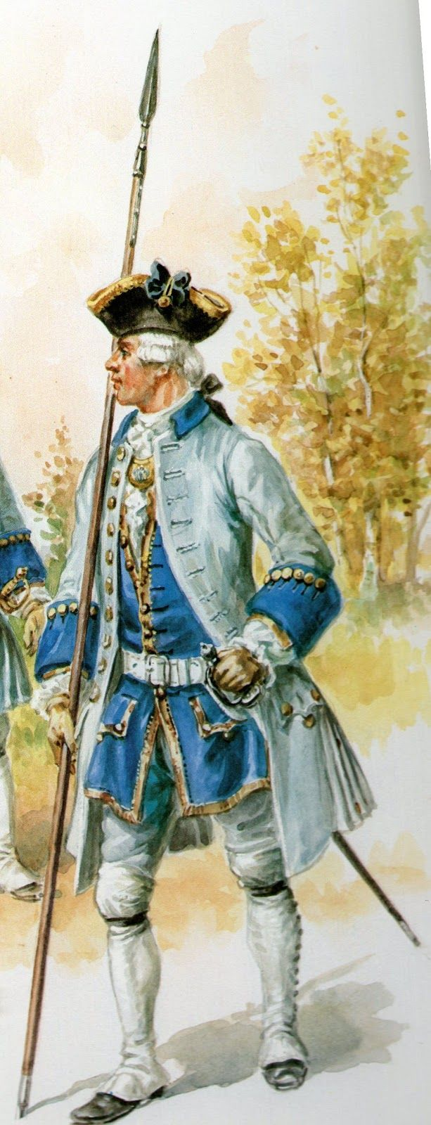 French Infantry Officer, Seven Years War