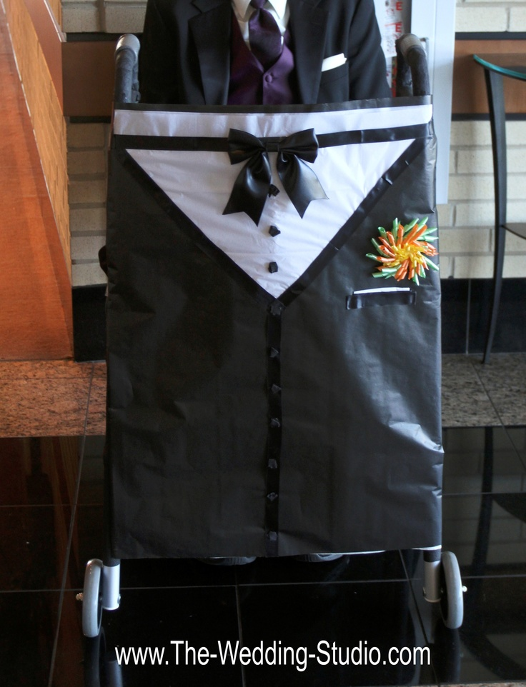 How to dress up a wheelchair or walker for the special family member coming to your wedding. The Wedding Studio, Schaumburg IL