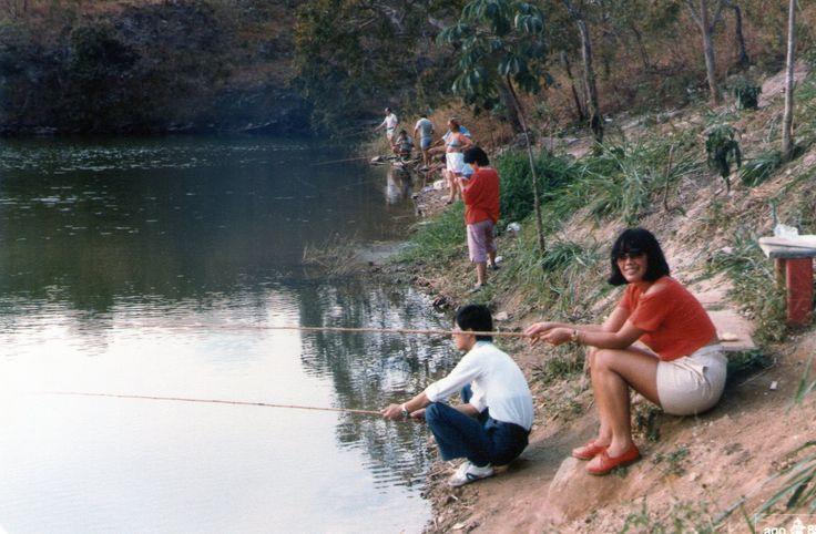 Pescando na Pousada do Rio Quente - Goiás