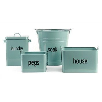 Laundry Products & Supplies - Briscoes - Just Home Blue Haze Soak Tin Bucket