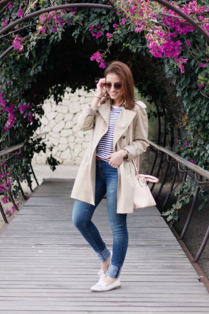 street style, trench, gabardina, rayas, stripes, primavera, spring, jeans, denim, carolina toledo, fashion blogger,