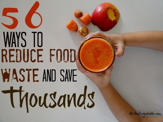 Reduce, Reuse Recycle! 56 Ways to Reduce Food Waste and Save Money