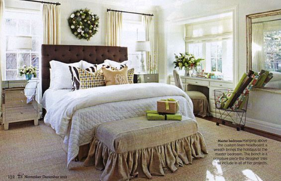 love that bench: Christmas Bedrooms, Window, Color, Traditional Home, Master Bedrooms, Design Home, Neutral Bedrooms, Bedrooms Decor, Beautiful Bedrooms