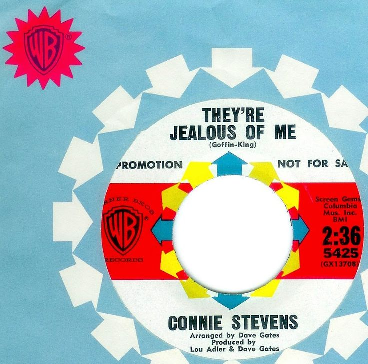 Connie Stevens - THEY'RE JEALOUS OF ME  (David Gates)  (1964)