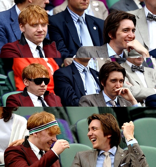 Love this, Oliver and Rupert at a tennis match!