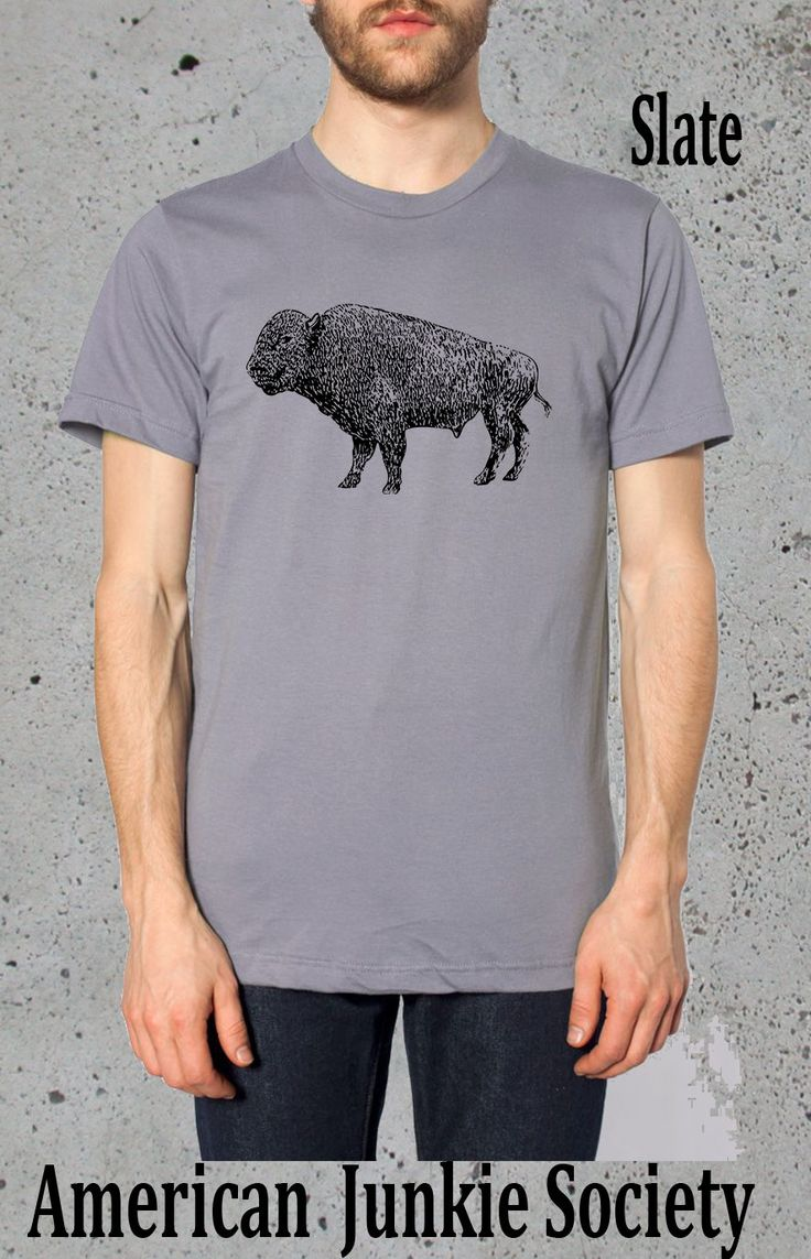 BUFFALO Bison T Shirt_/(Native American Clothing,Hipster Graphic Tee)~native american Apparel Tshirt Mens Boyfriend gifts for him by AmericanJunkieSoc on Etsy