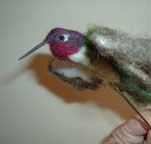 tutorial for needle felting a humming bird. - To make for nana