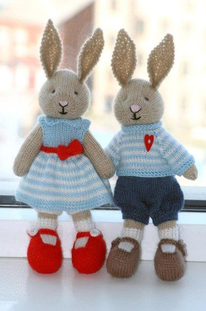 Вязаные спицами игрушки ручной работы. Вязаные спицами мишки | 3vision - Fashion blog