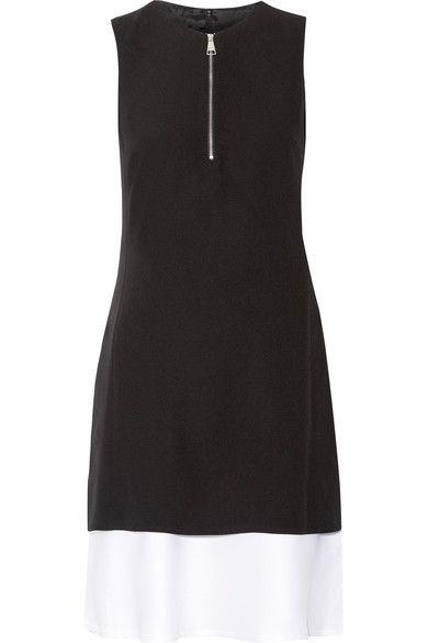 Karl Lagerfeld - Layered Crepe And Satin Mini Dress - Black - IT