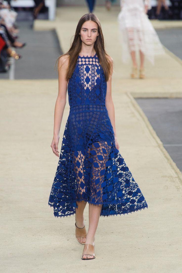 Chloé | Paris | Verão 2014 RTW: Paris Fashion, Chloe Spring, Fashion Dresses, Dresses Fashion, Fashion Week, Chloé Spring, Blue Lace, Spring 2014, Electric Blue