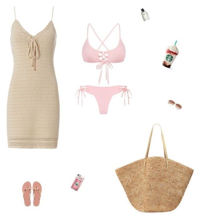 """""""Beach time"""" by celmad on Polyvore featuring Exclusive for Intermix, Havaianas, Flora Bella, Bobbi Brown Cosmetics, Tom Ford and Casetify"""