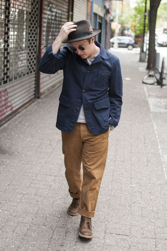 Alex Crawford navy with brown