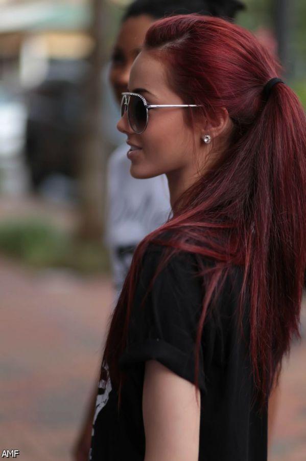 coloration la couleur coiffure couleur couleur cheveux essayer silken tresses couleur auburn magnifique cheveux ides teintures - Coloration Mauve