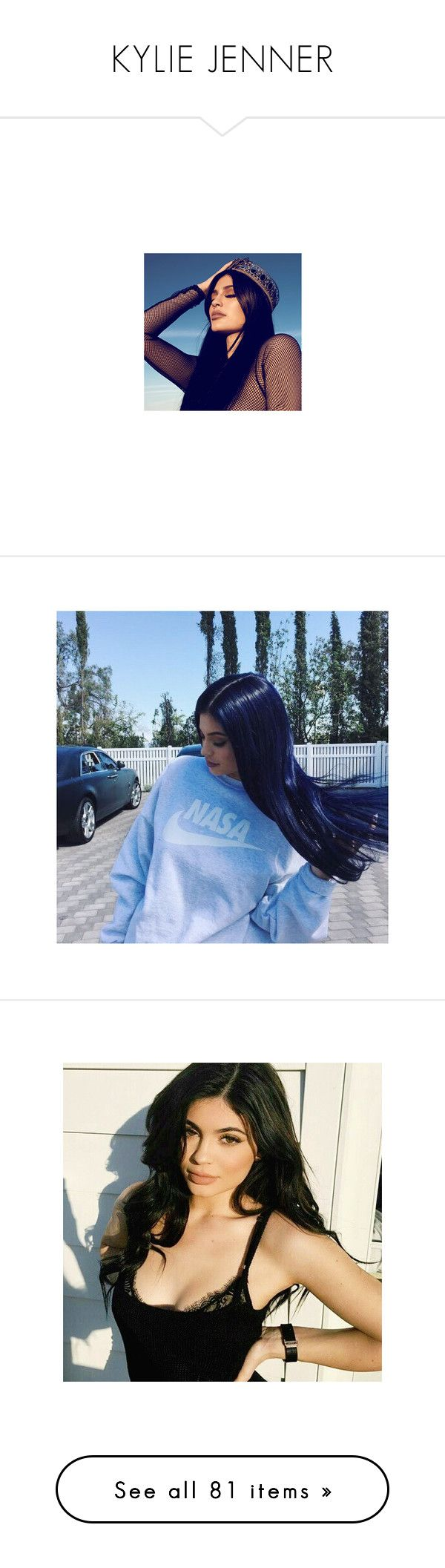 """""""KYLIE JENNER"""" by bruna-cortes ❤ liked on Polyvore featuring kendall jenner, accessories, kylie jenner, beauty products, kylie, hair and costumes"""