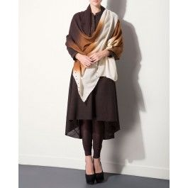 Shaded Brown Shawl for Winter Wishlist 2014 - Indian Designer Wear – Indian Ethnic Clothes – Ethnic Dresses of India – Fashion Wear of India - #Style #Gorgeous #Stunning  #Chic – Buy Indian Traditional Dresses for Women Online at #ExclusivelyIn – #Shop Saris, Salwar Kameez, Lengha, Jewelry, Accessories Online for #Holiday #Shopping