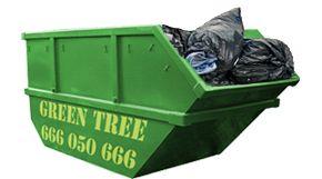 Mały kontener na śmieci firmy Kontenerygreen Wrocław
