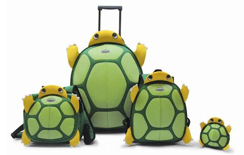Samsonite Turtle Luggage (I pinned this for munchkins but honestly...I would travel with this lol)