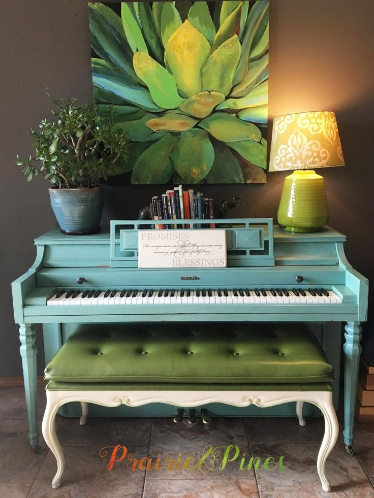 Turquoise Painted Piano – My CMS