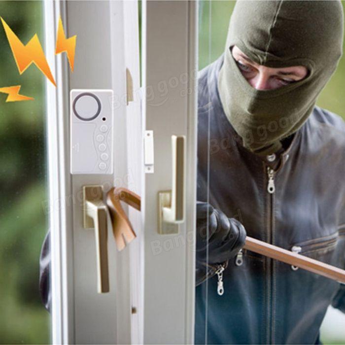 Doméstico detector de alarme de segurança janela da porta do sistema sensor de movimento sem fio guardando assaltante