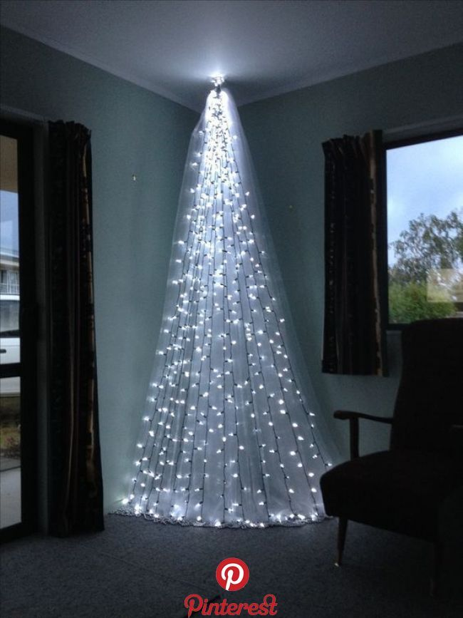 Top 6 Alternative Christmas Tree Ideas Short On Space Try These Stunning Al Decorating With Christmas Lights Diy Christmas Lights Alternative Christmas Tree