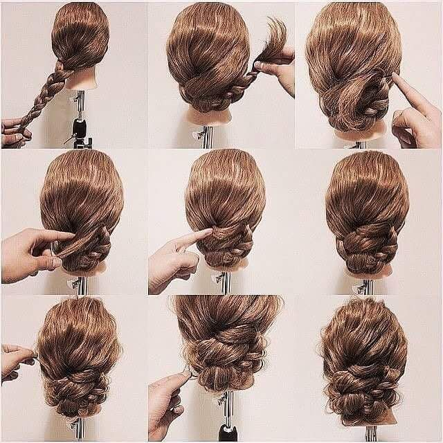 55 Easy Updos To Look Effortlessly Chic Thick Wavy Hair Hair Updos Tutorials Prom Hair Updo