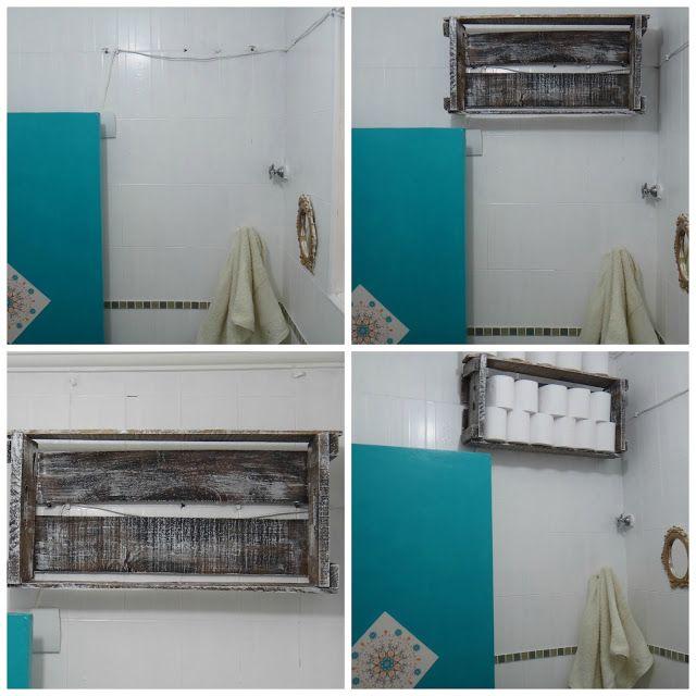 Caixote no banheiro! # Banheiro Decorado Com Caixote De Feira