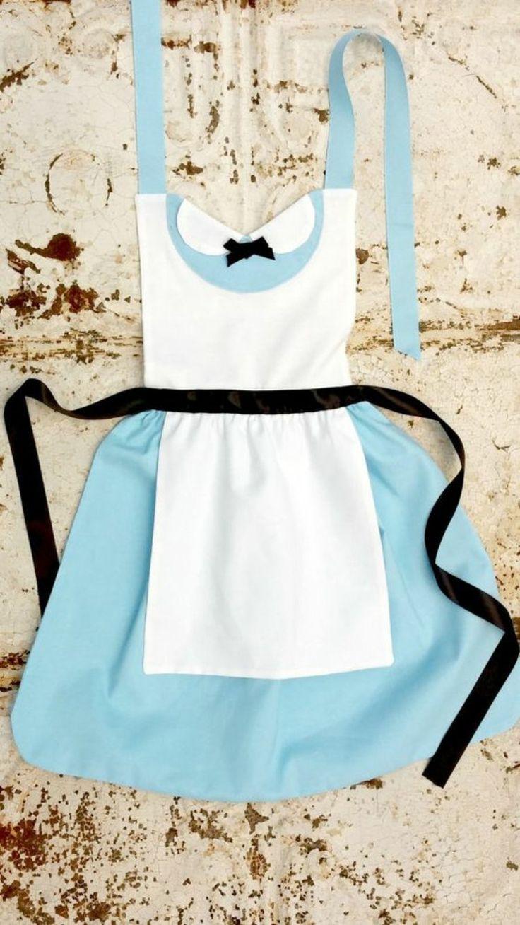 Küchenschürze blau weiß Schürze nähen Anleitung