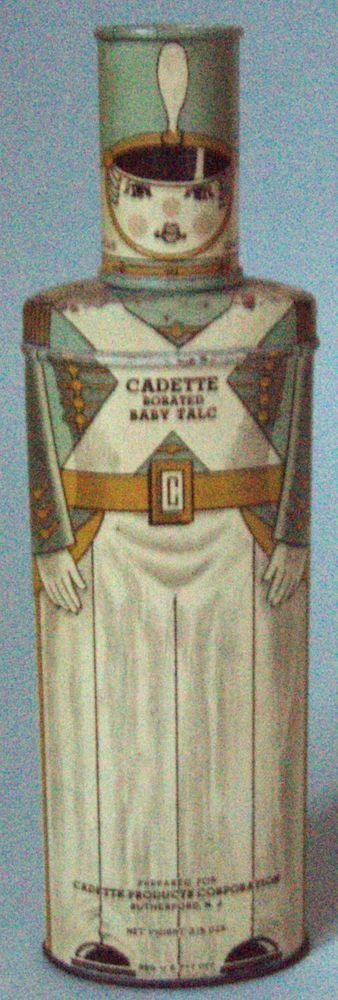 EXCELLENT NOS CADETTE BABY POWDER ADVERTISING TIN TOY SOILDER FULL REALLY NICE!! #Cadette
