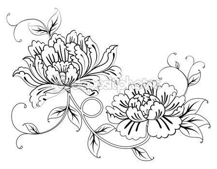 Винтажные цветочные узоры (цветы).
