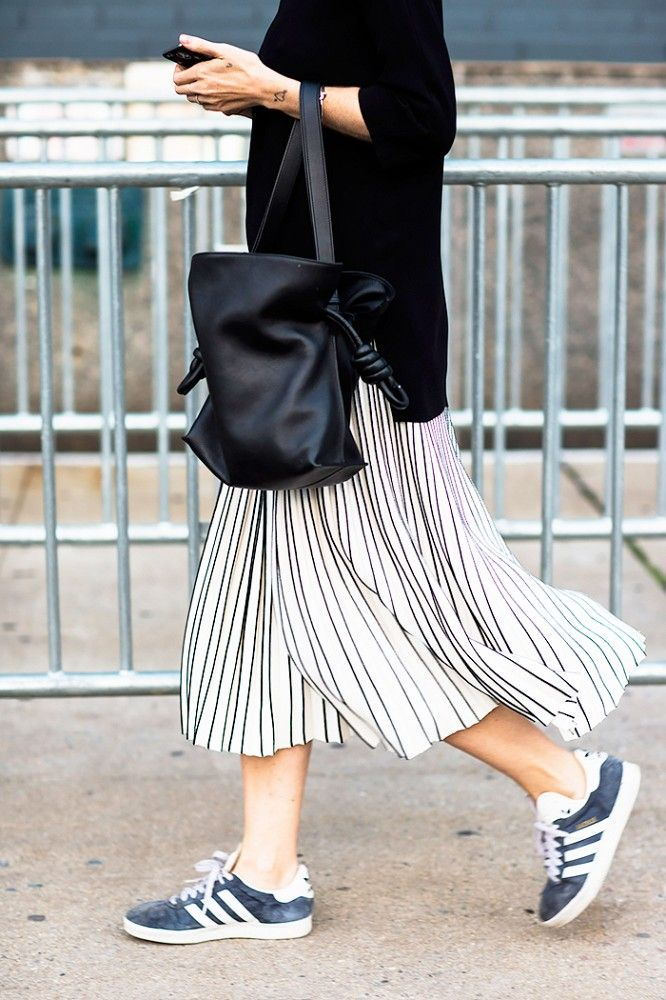 Pleated Skirts via @WhoWhatWear