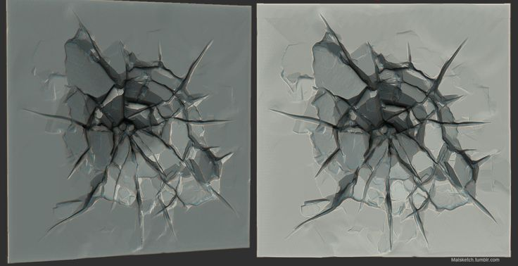 Impact Crack, Mallory Wikoff on ArtStation at https://www.artstation.com/artwork/impact-crack