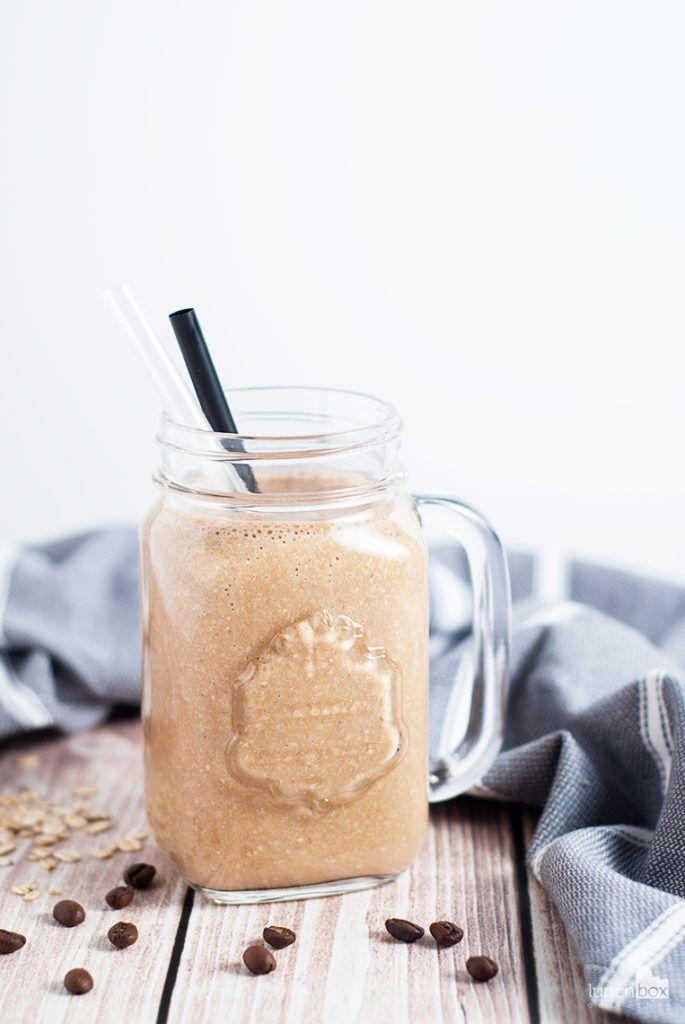 Milkshake kawowy z bananem i płatkami owsianymi | lunchboxodkuchni.pl
