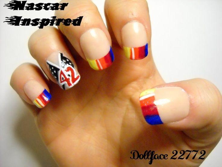 27 best Nascar nails images on Pinterest | Nascar nails, Manicures ...