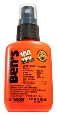 Ben's 100 MAX DEET Tick & Insect Repellent - 1.25 oz. Pump Bottle