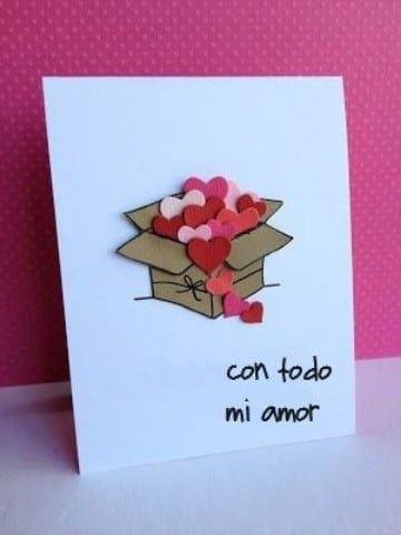 tarjetas de amor hechas a mano originales