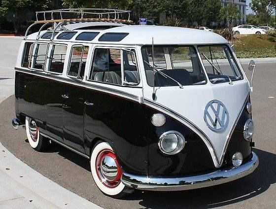 retro ride. vintage volkswagen #vw van/ loving the skylights!