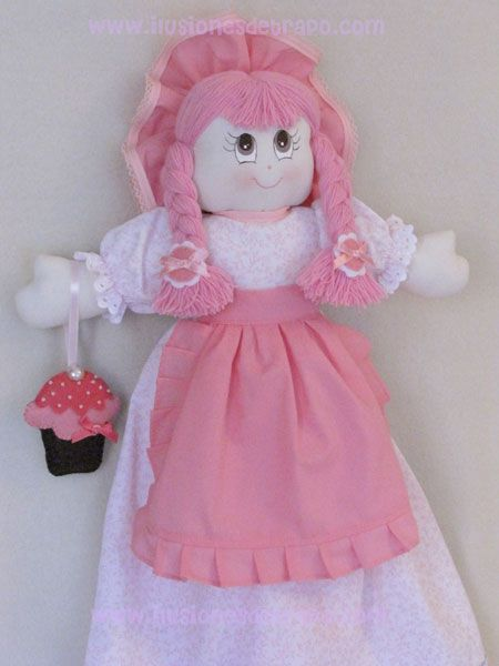 Muñecas guarda-bolsas   ilusionesdetrapo