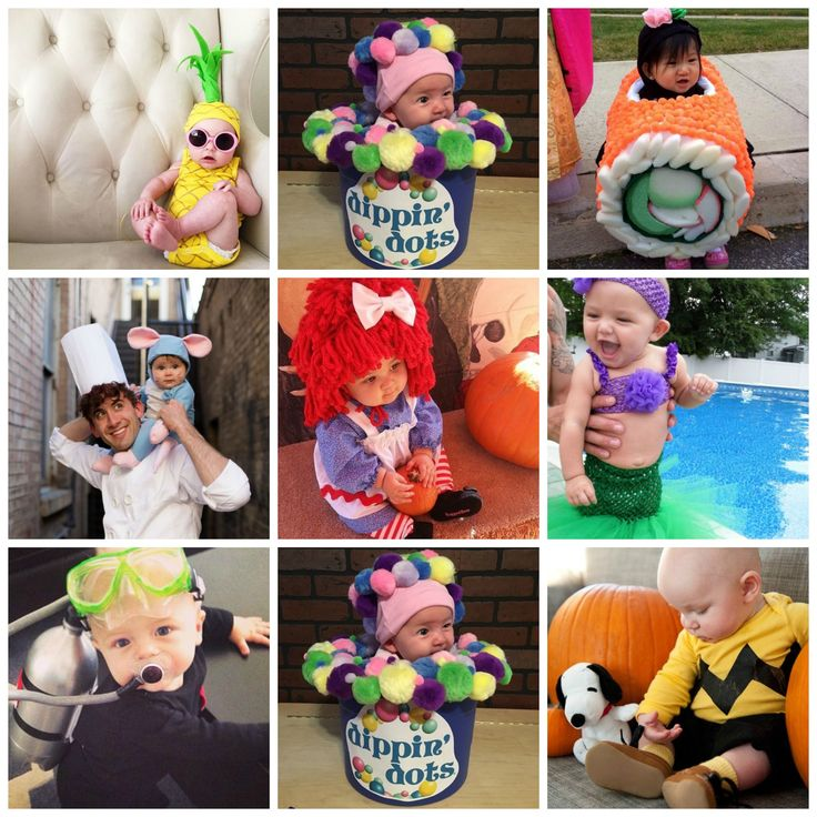 This will be my son's first Halloween (he will be 9 months old) and I thought since I was looking for ideas, i'd share with you guys too!! They are so darn cute. Spaghetti and Meatballs Baby Costume (source unknown) Charlie Brown Baby Costume Baby Cow Costume Baby Olaf Costume Cupcake and Baker Costume Subway …