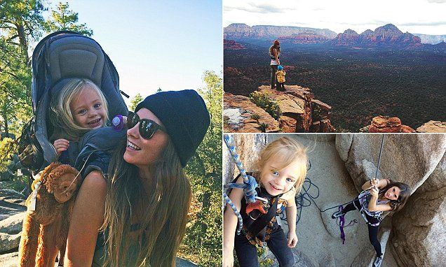 Morgan Brechler, 25, from Phoenix, Arizona, has conquered some of America's most famous national parks with her daughter Hadlie since she was just a few months old.
