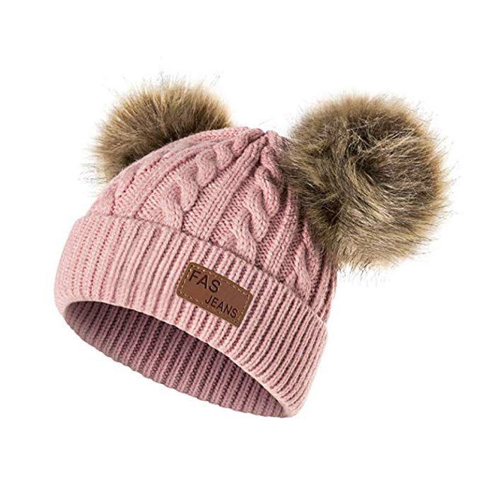 Kids Girl Boy Baby Knit Hat Infant Child Winter Warm Crochet Pom Pom Beanies Cap
