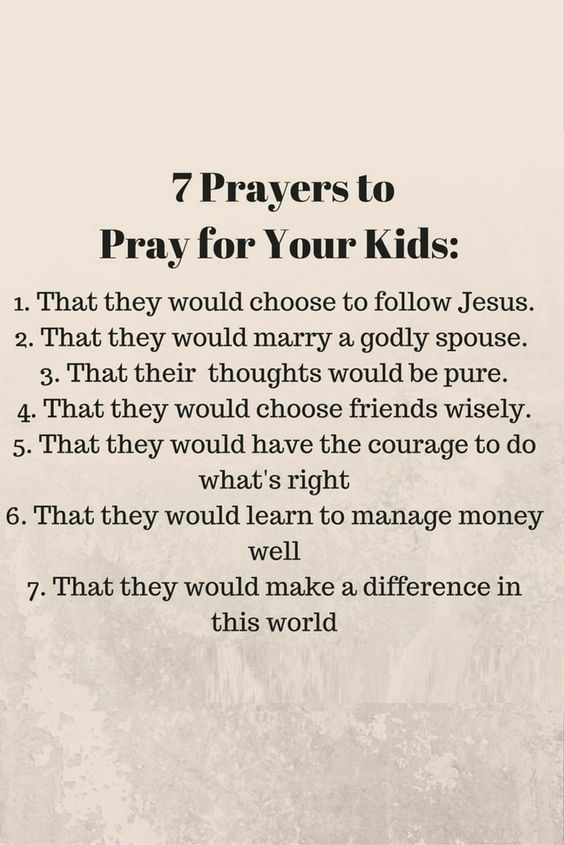 7 Prayers to Pray for Your Kids