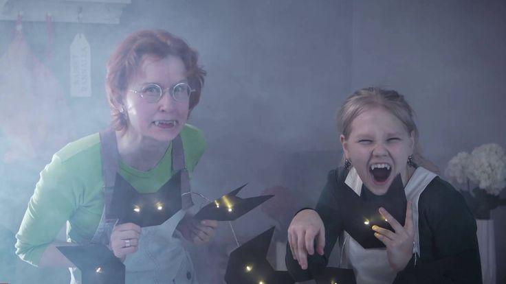 Halloween-koriste valonauhasta - YouTube