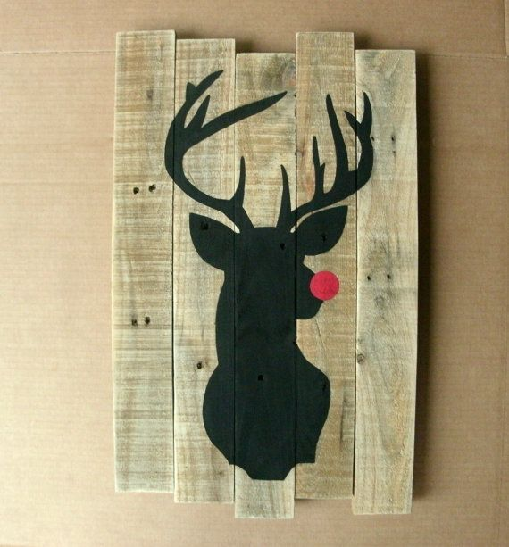 Reindeer Sign  Christmas Pallet Signs  by SimpleRusticCharm
