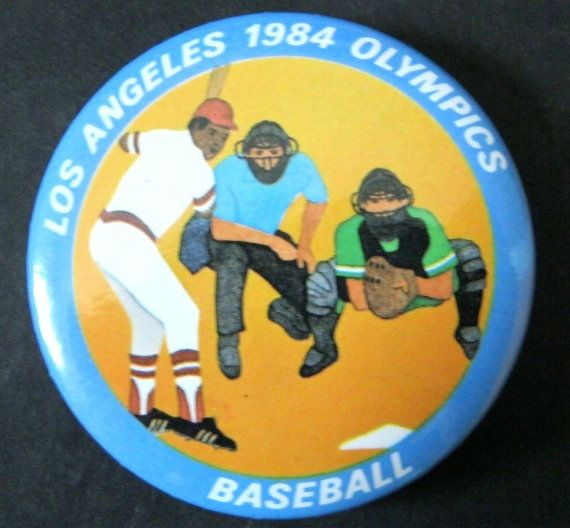 Vintage Los Angeles 1984 Olympics Baseball Pin by ALEXLITTLETHINGS
