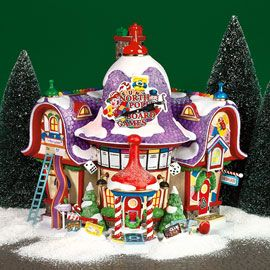 """Department 56: Products - """"North Pole Board Games Factory"""" - View Lighted Buildings. Retired. North pole"""